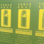 Table Salt Screen Printing