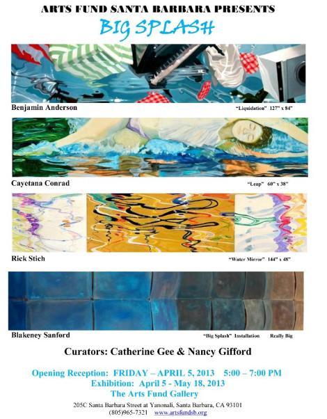 Big Splash at Arts Fund Gallery