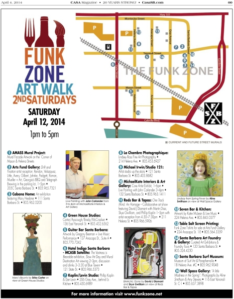 Funk Zone Art Walk April 12th